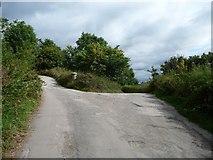SK2276 : Junction on Riley Lane, Eyam by Christine Johnstone