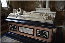 SK9239 : Memorial to John Cust 1st Earl Brownlow, Ss Peter & Paul church, Belton by Julian P Guffogg