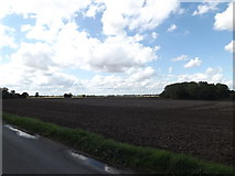 TM1663 : Fields looking towards Mendlesham Transmission Tower by Adrian Cable
