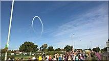 NZ3764 : Red Arrows star burst by Chris Morgan