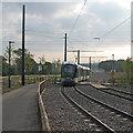 SK5635 : Tram leaving Clifton by John Sutton