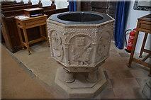 SK9239 : Font, Ss Peter & Paul church, Belton by Julian P Guffogg