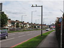 TQ2081 : Speed cameras, A40 Western Avenue, Acton by David Hawgood