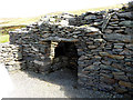 Q4005 : Old fireplace, Chancellor's House, Kilmalkedar by Oliver Dixon