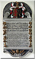 TL6254 : St Mary, Brinkley - Wall monument by John Salmon