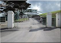 SX6443 : Burgh Island Hotel: entrance gates by Martin Bodman