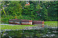 SU9657 : Barges, Basingstoke Canal by Alan Hunt