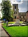 SK3825 : Melbourne War Memorial and Parish Church by David Dixon