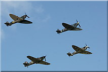 SU8706 : Battle of Britain: Historic flypast for 75th anniversary by Peter Trimming
