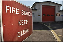 ST0107 : Cullompton : Fire Station by Lewis Clarke