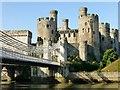SH7877 : Conwy Castle And Conwy Suspension Bridge by Rude Health