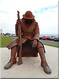 NZ4349 : The Statue of ' Tommy', Seaham War Memorial by Bill Henderson