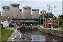 SE4824 : Ferrybridge lock and power station by David Martin