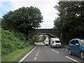 SX3359 : Rail Bridge Over A38 Trerulefoot by Roy Hughes