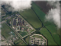 TQ9869 : Sheppey prisons cluster from the air by Thomas Nugent