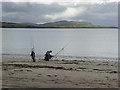 V3799 : Sea angler on Ventry Strand by Oliver Dixon