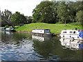 TQ1281 : Malham, narrowboat on Paddington Branch canal by David Hawgood