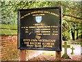 SK1532 : All Saints' Church Nameboard by David Dixon