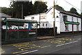 ST2096 : Bryngwyn Road pub and bus shelter, Newbridge by Jaggery