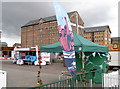 SO8218 : Gloucester Fan Zone by Neil Owen