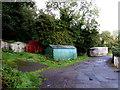 ST2096 : Corrugated metal buildings near Bryngwyn Road, Newbridge by Jaggery
