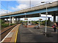 NS6161 : Rutherglen railway station by Peter Whatley