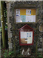 TM1168 : St. George's Church & Village Notice Boards by Adrian Cable