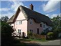 TM1072 : Thatched cottages, Thornham Parva by JThomas