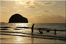SX0486 : Trebarwith Strand beach by Richard Croft