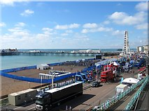 TQ3103 : Rugby Fanzone, Brighton by Simon Carey