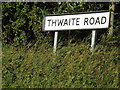 TM0968 : Thwaite Road sign by Adrian Cable