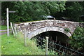 NY7320 : Old bridge over Hilton Beck near Hilton Mill by Roger Templeman