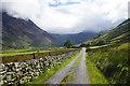 SH6362 : Road in Nant Ffrancon by Bill Boaden