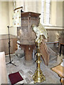 TM0766 : Pulpit & Lectern of St.Andrew's Church by Adrian Cable