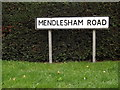 TM0766 : Mendlesham Road sign by Adrian Cable