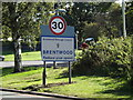 TQ5792 : Brentwood Town sign by Geographer
