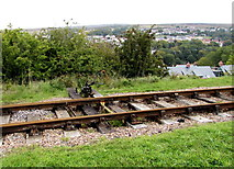 SO2508 : Railway points lever, Blaenavon by Jaggery