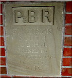 SO2508 : Blaenavon (High Level) railway station plaque by Jaggery