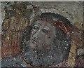 SW6128 : Breage: St. Breaca's Church: St. Christopher with the infant Jesus by Michael Garlick
