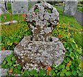 SW6128 : Breage: St. Breaca's Church: The four holed wheel cross by Michael Garlick