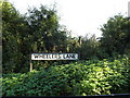 TQ5596 : Wheelers Lane sign by Adrian Cable