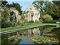 SP0327 : Sudeley Castle - Reflected Tithe Barn by Rob Farrow