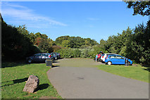NS6859 : Car Park, Bothwell Castle by Billy McCrorie