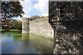 SH6076 : Moat and Outer Curtain Wall, Beaumaris Castle by Jeff Buck