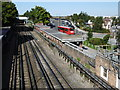 TQ4090 : View from the footbridge at South Woodford Underground station by Marathon