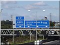 TQ5791 : Roadsigns on the M25 London Orbital Motorway by Adrian Cable