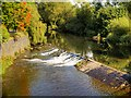 SD7910 : River Irwell, Weir at Bury Bridge by David Dixon