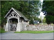 NY4826 : Lych gate, St Michael's Church, Barton by Christine Johnstone