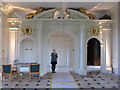 TQ0785 : Swakeleys Great Hall with arch to screens passage by David Hawgood