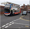 SP2764 : X18 bus for Stratford passes Warwick Racecourse by Jaggery
